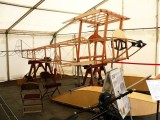 Reproduction Sopwith Tabloid racing floatplane being built by Steve Green and other volunteers for the Kingston Aviation Heritage Trust