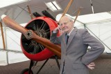 Ralph Hooper with the Brooklands Museum Sopwith Camel