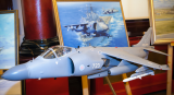 BAE Systems model Sea Harrier and Mark Bromley painting