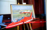 BAE Systems model Hawk advanced trainer and Mark Bromley painting