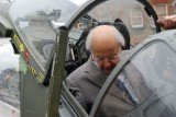 Ralph Hooper who devised the Harrier checks out a GR3 cockpit