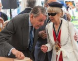 Tommy Sopwith with the Mayor of the Royal Borough of Kingston upon Thames, Councillor Mary Heathcote OBE