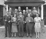 Cerca 1943 or 1944 Party at Ter-Fyn, Kingston Hill, the home of Ethel and Neville Spriggs. Source: Ann Bott