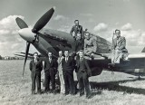 1944 - Langley Staff with 'The Last of the Many'. Source: Hiles Family Archive