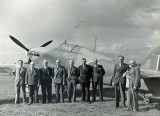 1944 - Langley staff with 'The Last of the Many'. Source: Colin Bedford