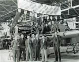1944 - Langley staff with 'The Last of the Many'.