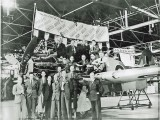 1944 - Langley staff with 'The Last of the Many'. Source: Keith Neale