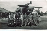 Circa 1945/46 - Hawker staff with a Tempest II, location unknown. Source: Gay Family Archive