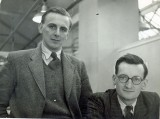 Circa 1946. Peter Jefferson and Gordon Jefferson in the Experimental Drawing Office at Canbury Park Road. Source: Gordon Jefferson