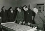 19th May 1953 - Sydney Camm showing Prince Phillip designs for swept wing aircraft.