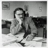 1951 - Charles Plantin in the Technical Office at Canbury Park Road.