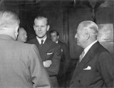 19th May 1953 The Duke of Edinburgh welcomed by Sir Frank and Neville Spriggs. Source: Ann Bott
