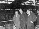1954 Duncan Sandys, then Minister of Supply, visiting the Richmond Road factory. Source: Jennifer Clarke