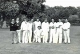 1980 circa - A Kingston cricket eleven about to take on a team from Dunsfold. Source: Les Palmer