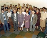 1983-1226 Production Control Department on the ocasion of the retirement of Betty Wilder - the lady in the front row holing the paper. Source: Sandra Gamble