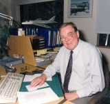 1987 - Ian Craig at his desk. A former RAF Hunter pilot, he became a Technical Author and wrote manuals for both the Harrier and the Hawk. Source: Shirley Craig