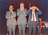 1988 - 09671 The three chief airframe designers - see no evil, hear no evil and speak no evil! Source: Ralph Hooper