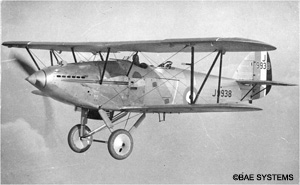 1928 Hawker Hart light bomber
